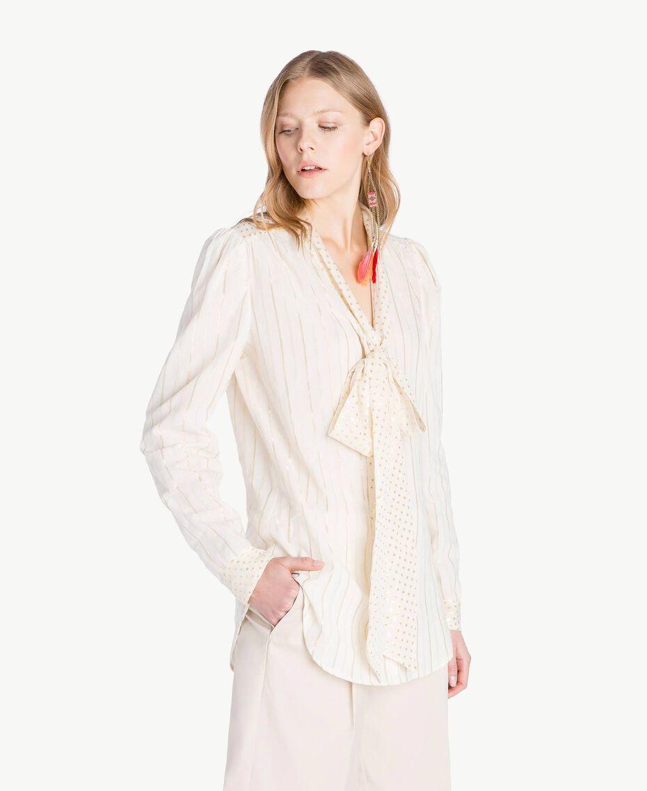 Camicia jacquard Bicolor Grigio Medio Melange / Oro Chiaro Donna TS8261-02