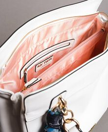 Hobo-Bag aus Lederimitat mit Halstuch Mattweiß Frau 191MO8102-05