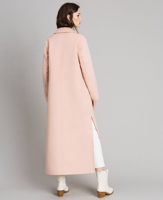 "Double wool cloth long coat ""Nude"" Beige Woman 191TP2480-03"