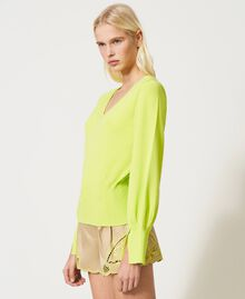 """Seamless jumper with wide sleeves """"Led"""" Yellow Woman 211TT3071-02"""