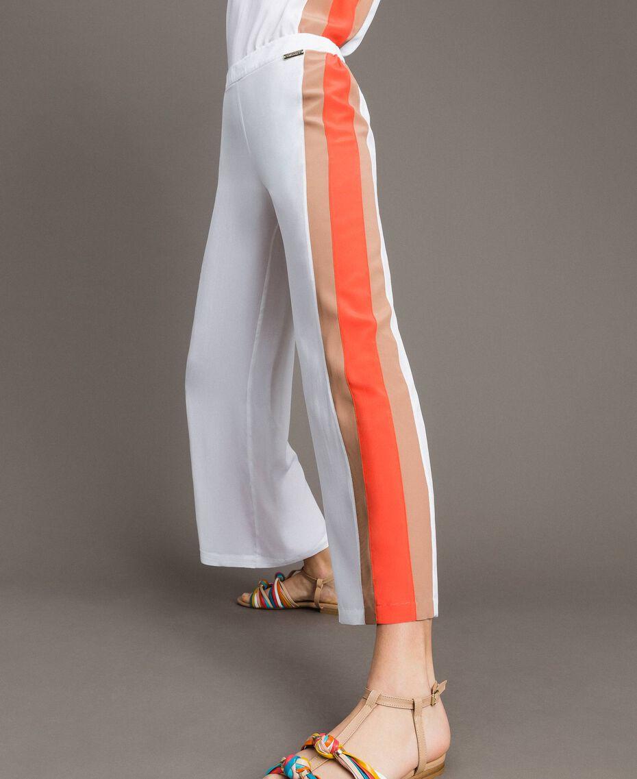 "Pantalon palazzo avec découpes multicolores Multocolore ""Jus d'Orange"" / Beige ""Voie Lactée"" / Marron ""Grès de Pétra"" Femme 191LM2HNN-01"