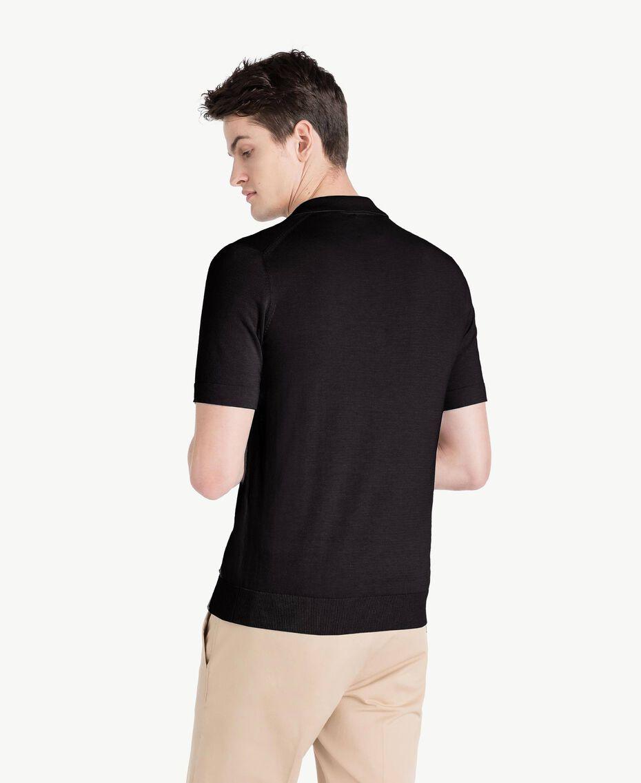 Pullover aus Baumwolle und Kaschmir Schwarz Mann US831C-03