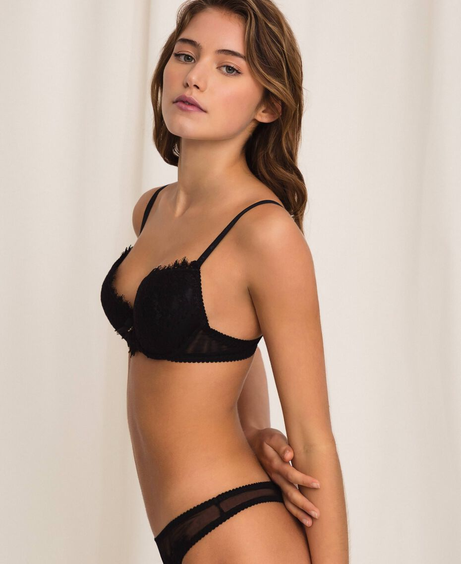 Push-up in pizzo Nero Donna 201LL6244-02