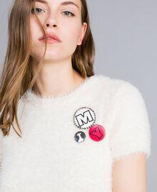 Fur knit jumper with pins Mother Of Pearl Woman JA83GA-04