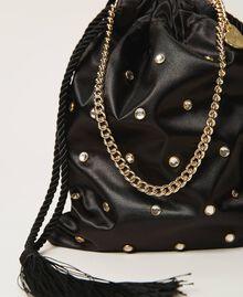 Атласная сумка со стразами Черный женщина 211TD8221-03