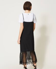Slip dress with ladybug embroidery and T-shirt Black Woman 202TP2808-04