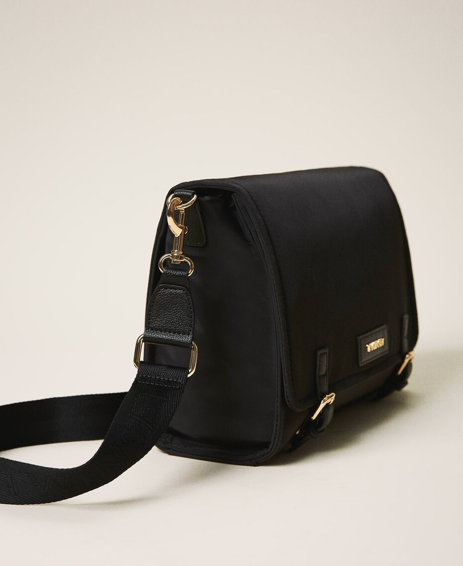 Satin Twinset Bag shoulder bag Black Woman 202TB7203-01