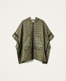 Padded cape with logo Alpine Green Woman 212TP2150-0S