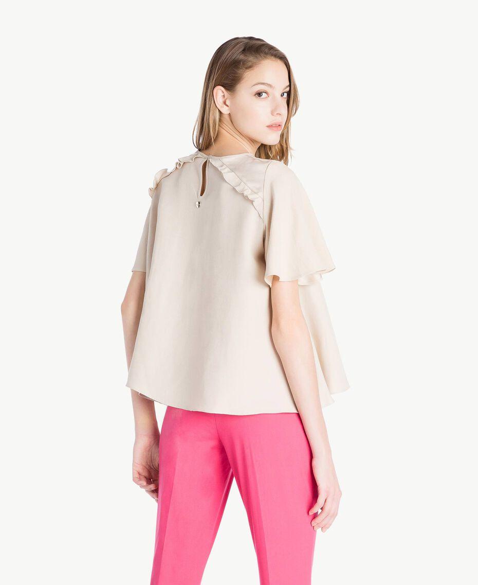 Bluse aus Envers-Satin Dune Frau TS823E-03