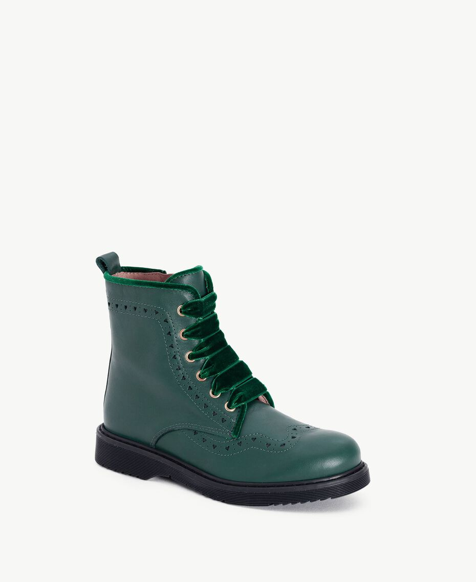 Boots cuir nappa Vert Anglais HA78AN-02