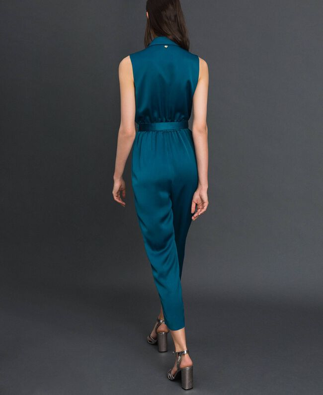 "Double breasted jumpsuit with belt at the waist ""Lake"" Blue Woman 192MP2350-04"