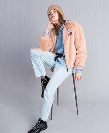 Eighties-inspired denim jeans Denim Blue Woman JA82QZ-0T