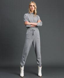 Joggers aus Wolle und Kaschmir Grau Melange Frau 192TT3024-02