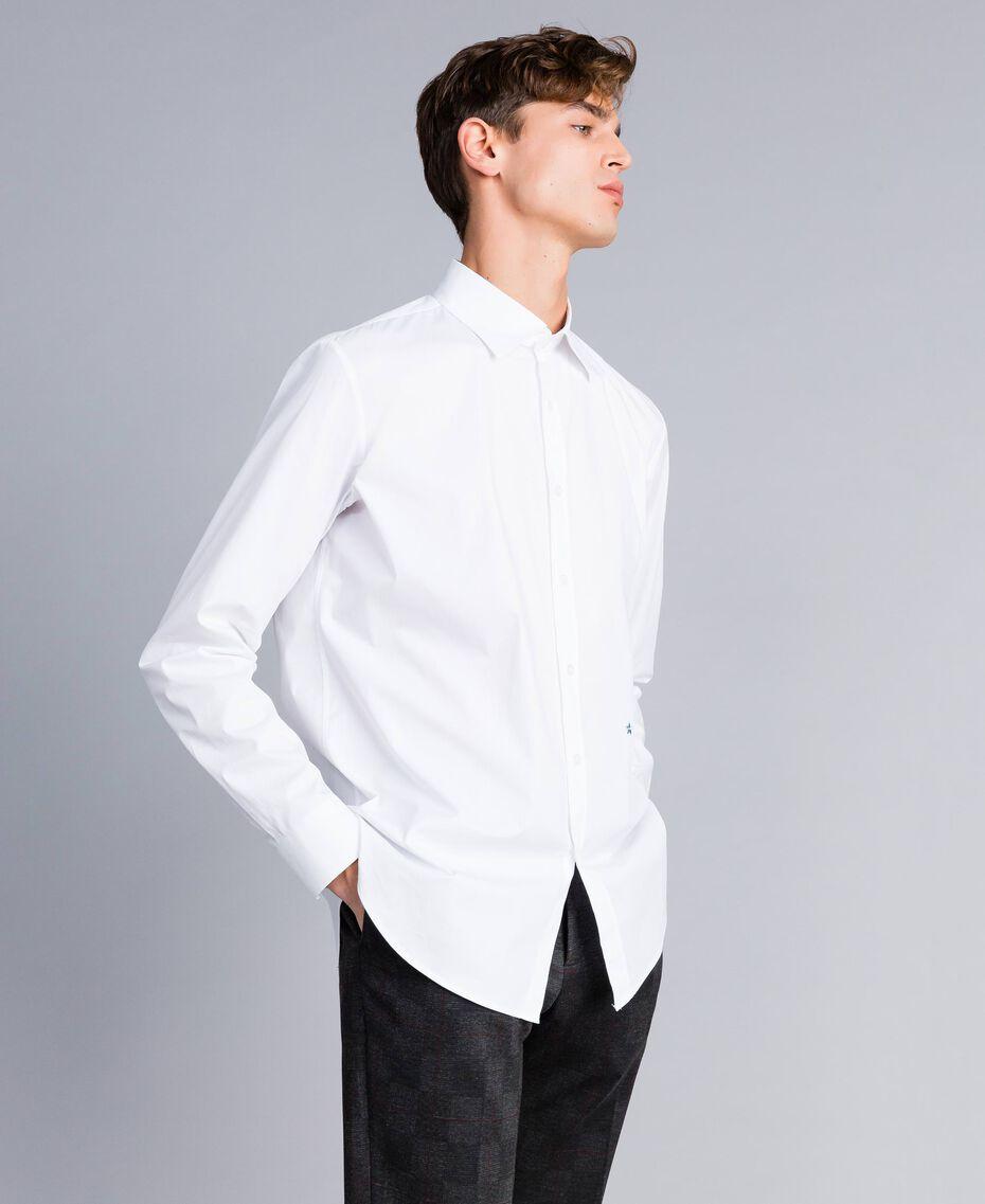 Camicia in cotone stretch Madreperla Uomo UA82EN-02