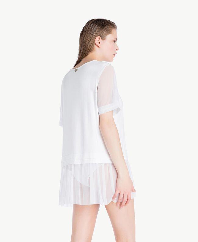 Maxi tulle T-shirt White Woman BS82TT-04