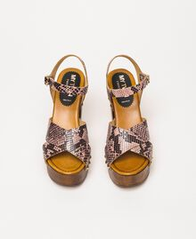 Animal print faux leather clog sandals Wild Rose Python Print Woman 201MCT01C-05