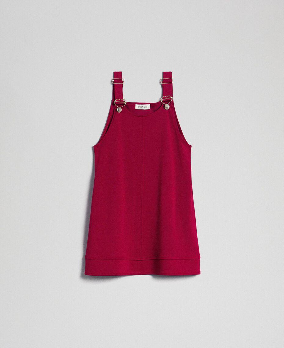 Jupe-salopette avec poches Rouge Ruby Wine Enfant 192GJ2223-0S