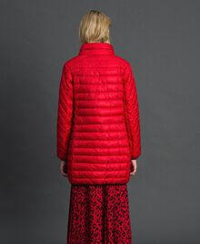 Long ultra light puffer jacket Poppy Red Woman 192MP2101-03