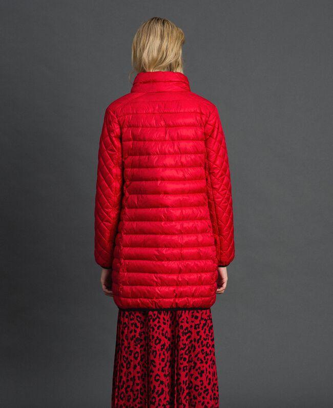 Piumino lungo ultraleggero Rosso Papavero Donna 192MP2101-03