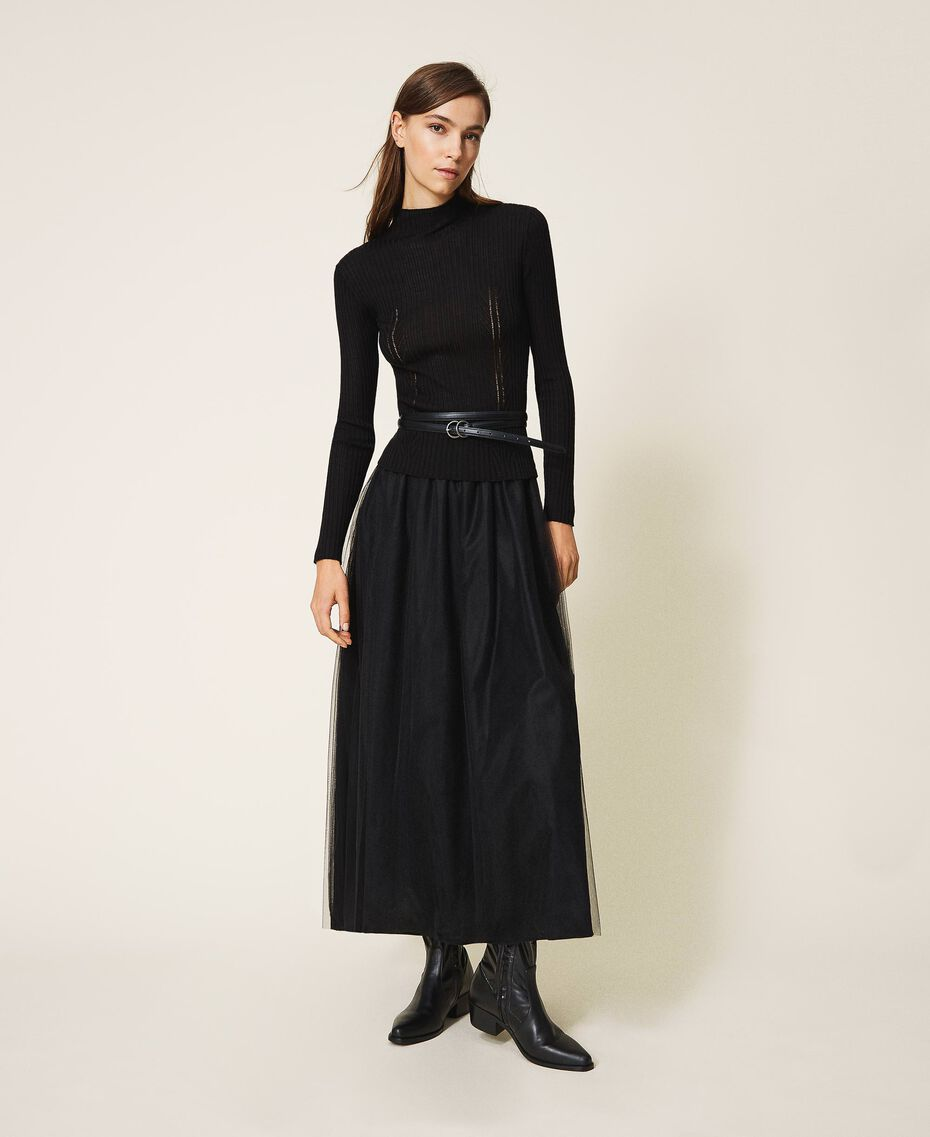 Faux leather belt Black Woman 202MA4353-0S