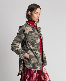Camouflage print jacket with embroideries Camouflage Print Woman 192TP2032-02