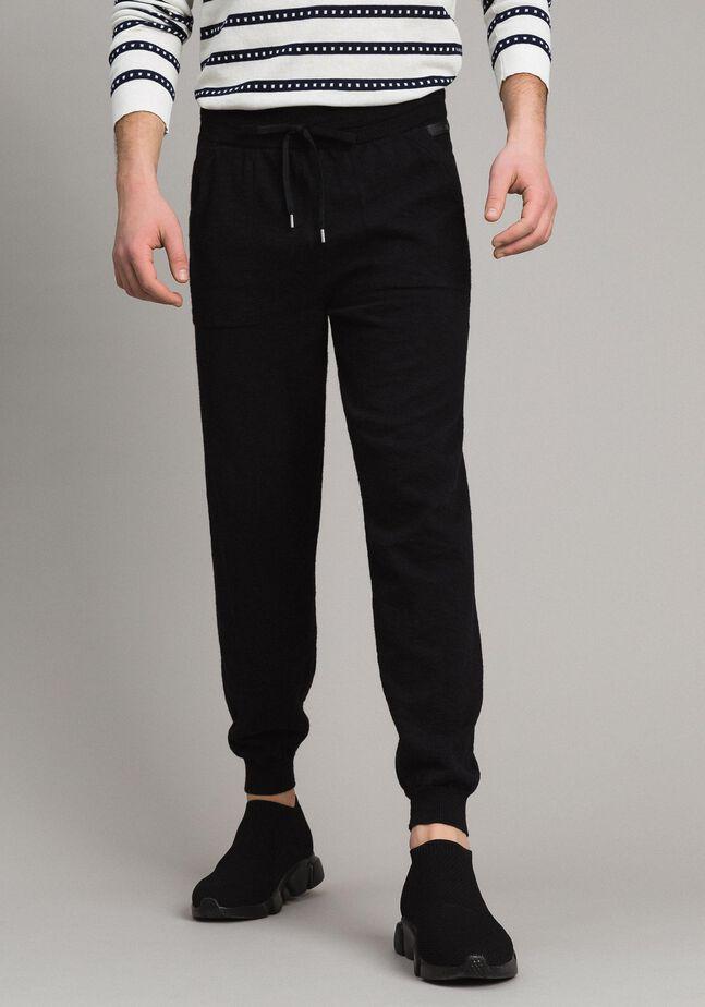 Cotton-blend slub jogging trousers