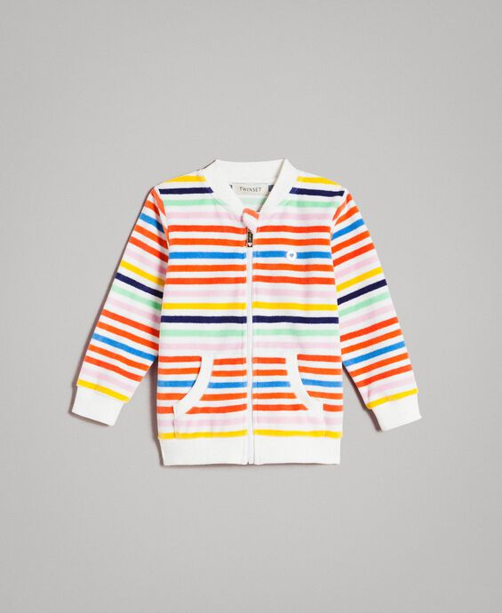 Multicolour striped sweatshirt