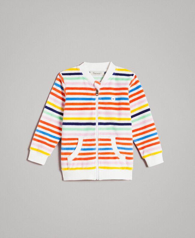 Mehrfarbiger gestreifter Pullover Streifen Multicolour Kind 191GB2220-01