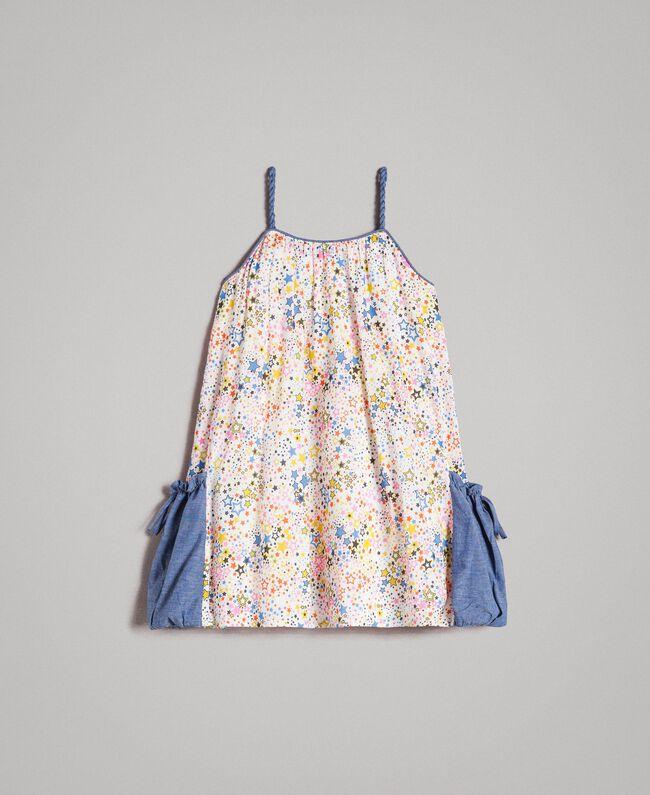 Muslin dress with print Mini Stars Print Child 191GB2531-01
