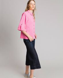 Jeans wide leg cropped Denim Blue Donna 191MP2470-03