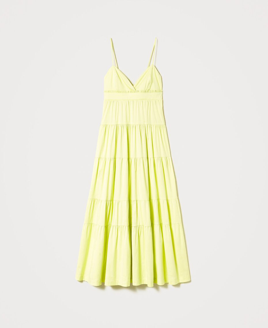 """Draco"" poplin dress with flounces ""Sunny"" Yellow Woman 211MT2265-0S"