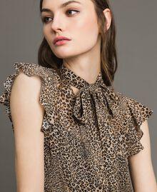 Animal print georgette blouse Small Animal Print Woman 191TP2720-01