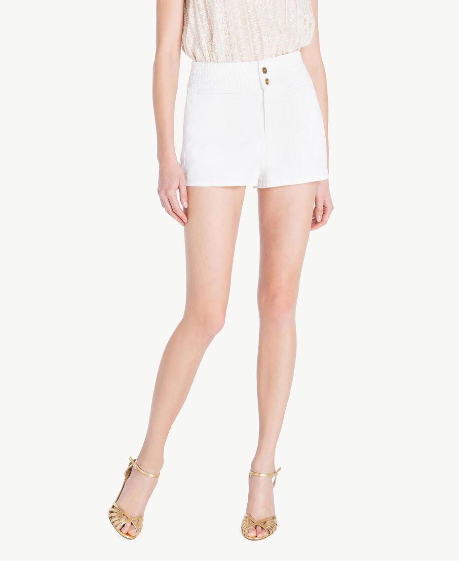 Short coton Blanc Femme TS82GC-01