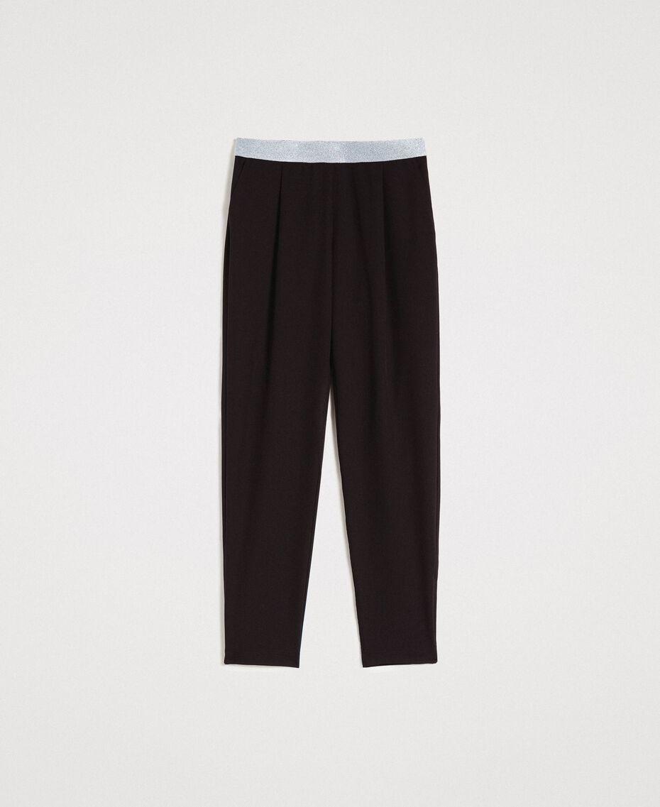 Pantalon cigarette Noir Femme 191LL25AA-0S