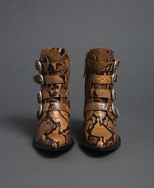 Leather Texas boots with animal print Brandy Python Print Woman 192TCT06E-05