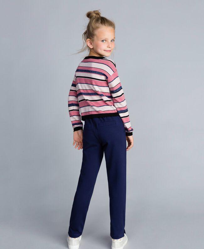 Lurex jacquard jumper Multicolour Stripe Jacquard Child GA83EB-04