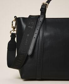Faux leather shopping bag Black Woman 202TD8110-03