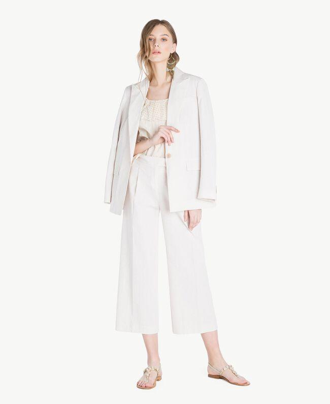Jacquard blouse Two-tone Mid Melange Grey / Light Gold Woman TS8263-05