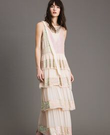 Georgette sequin long dress Bud Pink Woman 191TP2580-01
