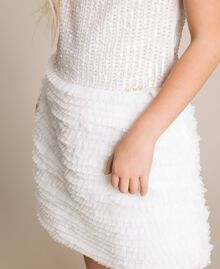 Sequin embroidery and tulle dress Off White Child 201GJ2Q6A-04