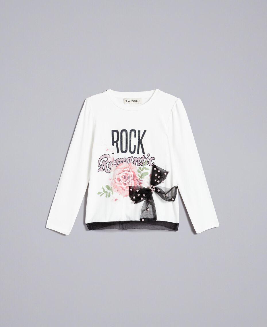 T-shirt en jersey avec imprimé Off White Enfant FA82JC-01