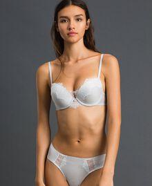 Push-up bra with lace Silver Lurex Grey Woman 192LL6B44-01