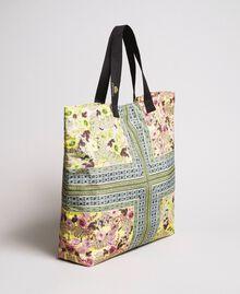 """Sac de plage à imprimé foulard Imprimé Foulard Jaune """"Jus De Citron"""" Femme 191LB4HBB-02"""