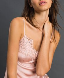 Satin top with lace Pale Rose Woman 192LI21PP-03