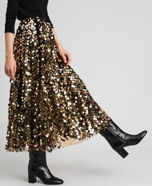 Midi skirt with sequins on tulle Sequin Embroidery Woman 192ST2213-01