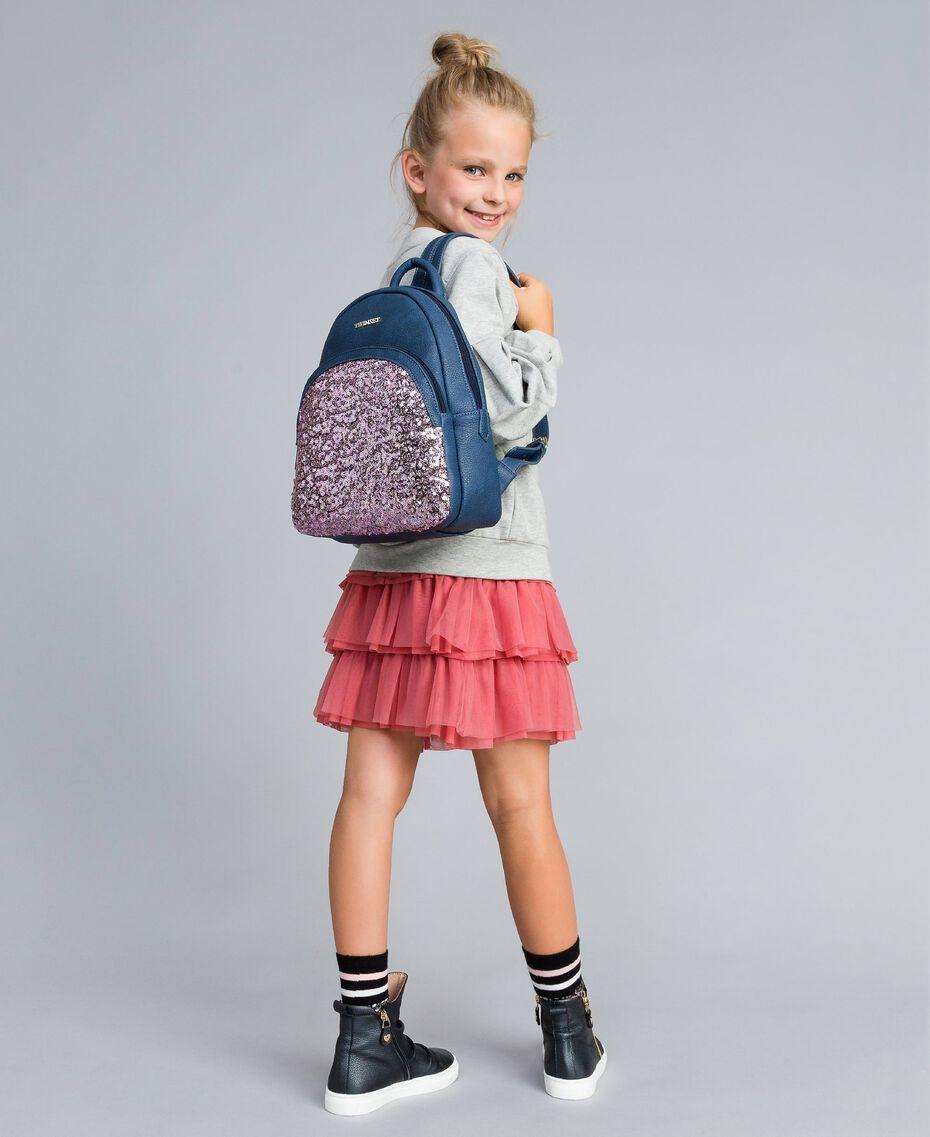 Рюкзак из искусственной кожи с пайетками Синий Blackout Pебенок GA87CN-0S