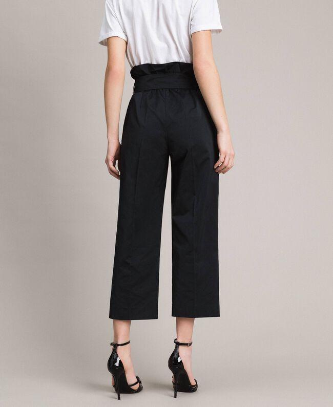 Pantalon en taffetas Noir Femme 191TP2654-04