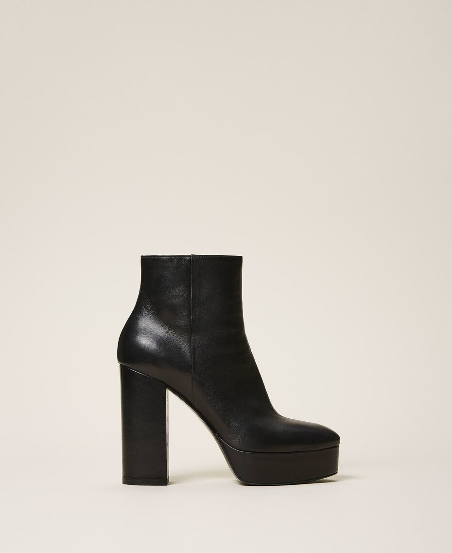 Platform leather ankle boots Black Woman 202TCP152-02