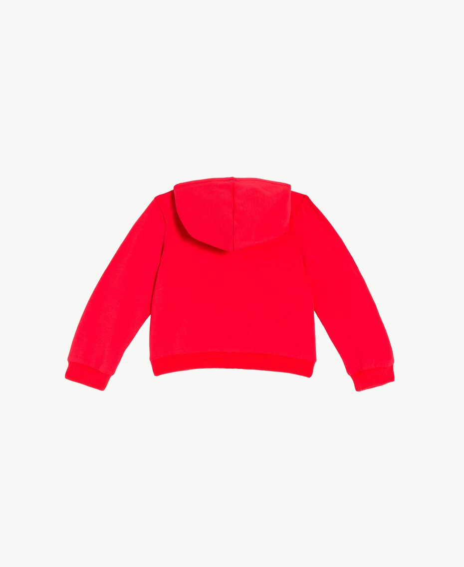 Sweat-shirt logo Bicolore Rouge Grenadier / Fleurs Chantilly Enfant FS82SN-02