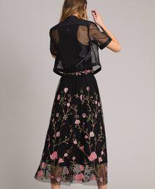 Veste en similicuir et organza Noir Femme 191MT2070-03